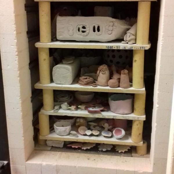 Arbeiten des Keramikzirkels