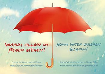 Postkarte Motiv Schirm